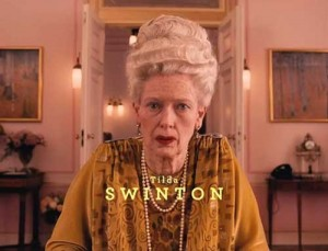 "Tilda Swinton in a scene from ""The Grand Budapest Hotel""."