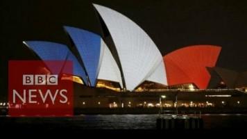 Paris attacks: Buildings lit in solidarity with France