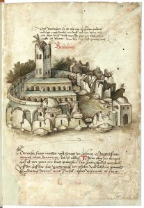 The basilica and grounds as depicted in 1487 AD (image courtesy of Wikipedia).